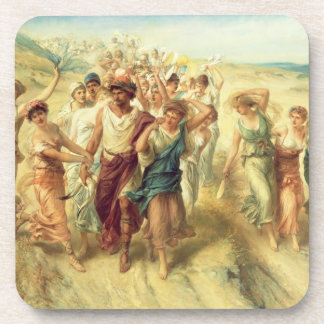 The Poet Anacreon (570-485 BC) with his Muses, 189 Beverage Coaster