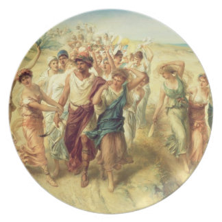 The Poet Anacreon (570-485 BC) with his Muses, 189 Melamine Plate