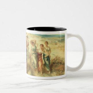 The Poet Anacreon (570-485 BC) with his Muses, 189 Two-Tone Coffee Mug
