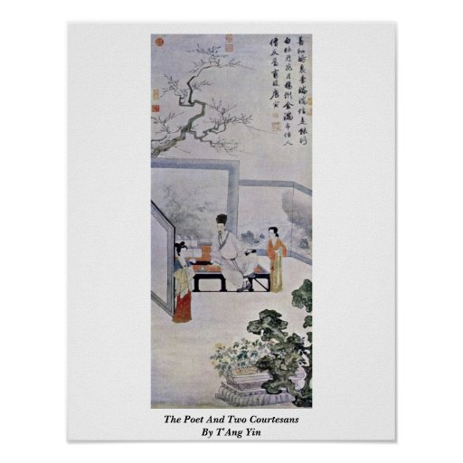 The Poet And Two Courtesans By T'Ang Yin Posters