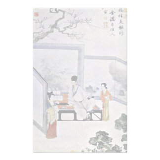 """The Poet And Two Courtesans, By T'Ang Yin,?""""?¯… Stationery Paper"""