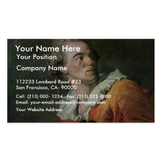 The Poet By Fragonard Jean-Honoré (Best Quality) Business Card Templates
