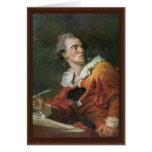 The Poet By Fragonard Jean-Honoré (Best Quality) Cards