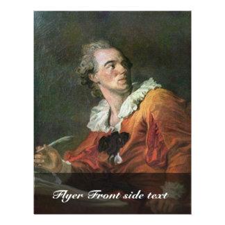 "The Poet By Fragonard Jean-Honoré (Best Quality) 8.5"" X 11"" Flyer"