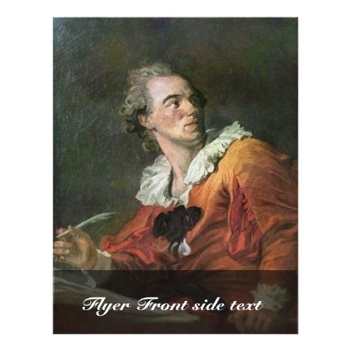 The Poet By Fragonard Jean-Honoré (Best Quality) Personalized Flyer