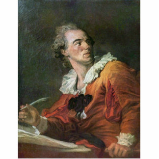 The Poet By Fragonard Jean-Honoré (Best Quality) Acrylic Cut Outs