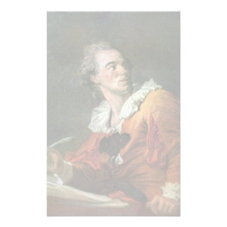 The Poet By Fragonard Jean-Honoré (Best Quality) Customized Stationery