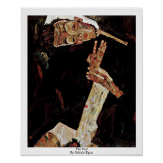 The Poet By Schiele Egon Poster