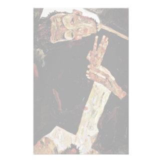 The Poet By Schiele Egon Customized Stationery