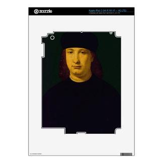 The Poet Casio, c.1495-1500 (oil on panel) iPad 3 Decals