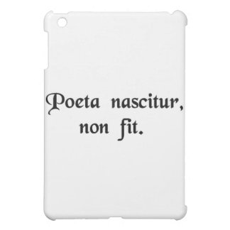 The poet is born, not made. iPad mini cover