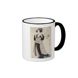 The Poet Sei Shonagon as a Courtesan Ringer Coffee Mug
