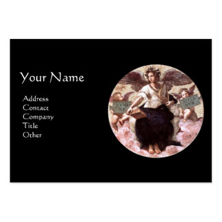 THE POETRY Monogram, Black Large Business Card