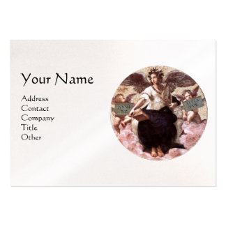 THE POETRY Monogram, Black White Pearl Paper Large Business Card