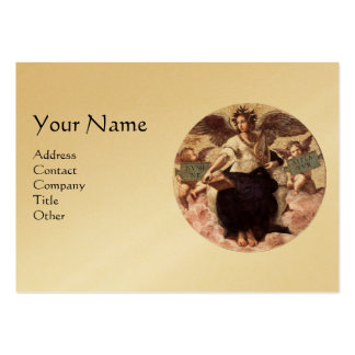 THE POETRY Monogram, Gold Metallic, Black Large Business Cards (Pack Of 100)