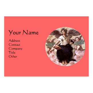 THE POETRY Monogram, Pink Black Large Business Card