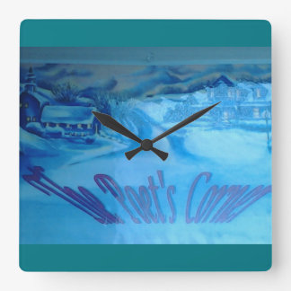 The Poet's Corner Square Wall Clock