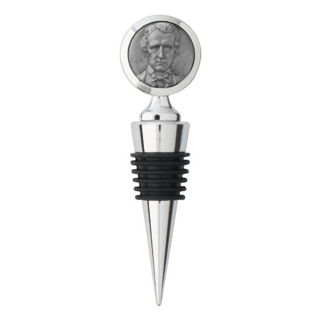 The Poets - E. A. Poe - Chrome Wine Stopper