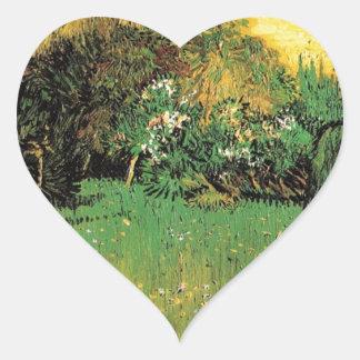 The Poet's Garden by Vincent van Gogh. Heart Sticker