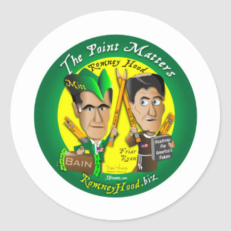 The Point Matters Classic Round Sticker