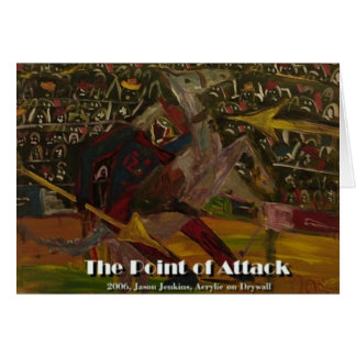 the point of attack greeting card