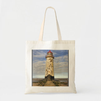 The Point of Ayr Lighthouse Wales Tote Bag