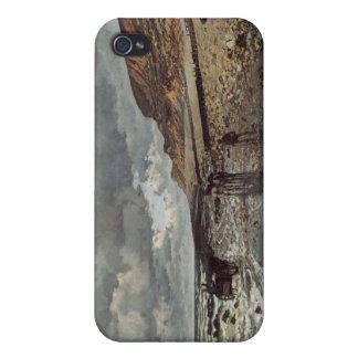 The Pointe de La Hève at Low Tide - Claude Monet Cases For iPhone 4