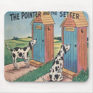 The Pointer and The Setter - Mousepad... Mouse Pad