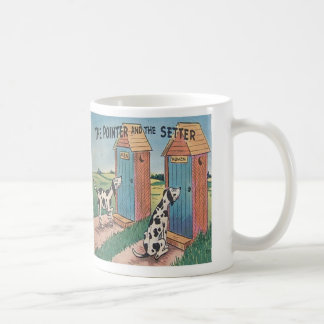 The Pointer and The Setter..... Classic White Coffee Mug
