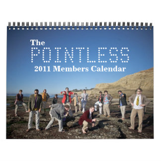 The Pointless 2011 Members Calendar