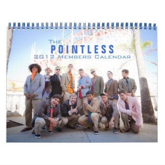 The Pointless 2012 Members Calendar