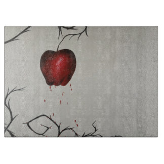 The Poisoned Apple Glass chopping board