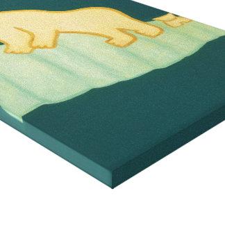 The Polar Bear and his cub visit London 2009 Canvas Print