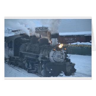 The Polar Express Engine Greeting Card
