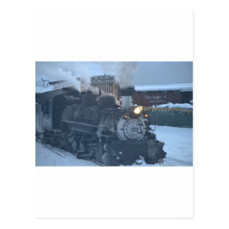 The Polar Express Engine Postcard