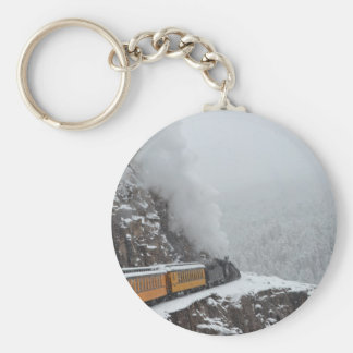 The Polar Express Rounds the Bend Basic Round Button Keychain