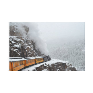 The Polar Express Rounds the Bend Canvas Print
