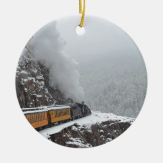 The Polar Express Rounds the Bend Ceramic Ornament