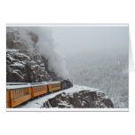 The Polar Express Rounds the Bend Greeting Card