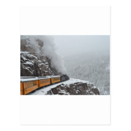 The Polar Express Rounds the Bend Postcard
