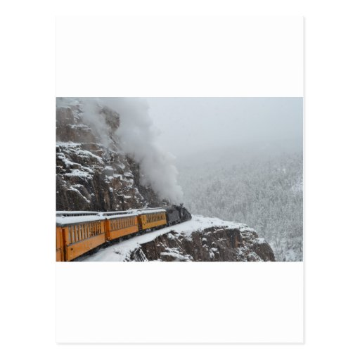 The Polar Express Rounds the Bend Post Card