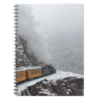 The Polar Express Rounds the Bend Spiral Notebook