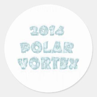 The Polar Vortex Memorial Round Stickers