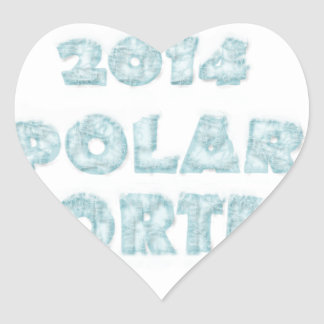 The Polar Vortex Memorial Heart Sticker
