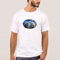 The Polar White Bear and the Sailing Boat T-Shirt