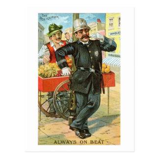 The Policeman Always on Beat Comic Vintage Postcard