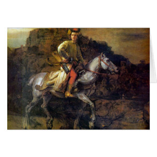 The Polish Rider by Rembrandt Harmenszoon van Rijn Card