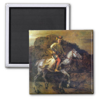The Polish Rider by Rembrandt Harmenszoon van Rijn Fridge Magnet
