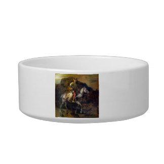 The Polish Rider by Rembrandt Harmenszoon van Rijn Cat Food Bowls