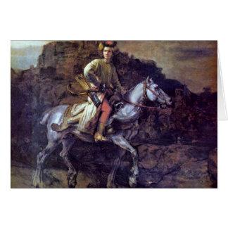 The Polish Rider. By Rembrandt Van Rijn Card